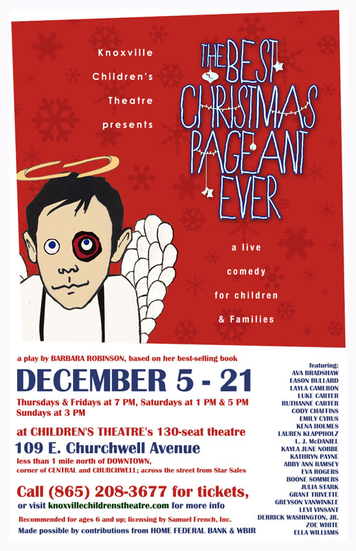 the play is directed by ut student ashlee latimer rose bolton will design and build the costumes the plays stage manager is west high freshman clare - Best Christmas Pageant Ever Play